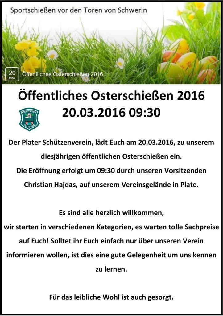 OSTERSCHIEßEN 2016